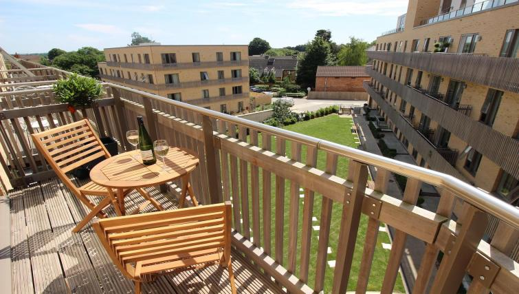 Balcony at the The Marque Grande Apartment - Citybase Apartments