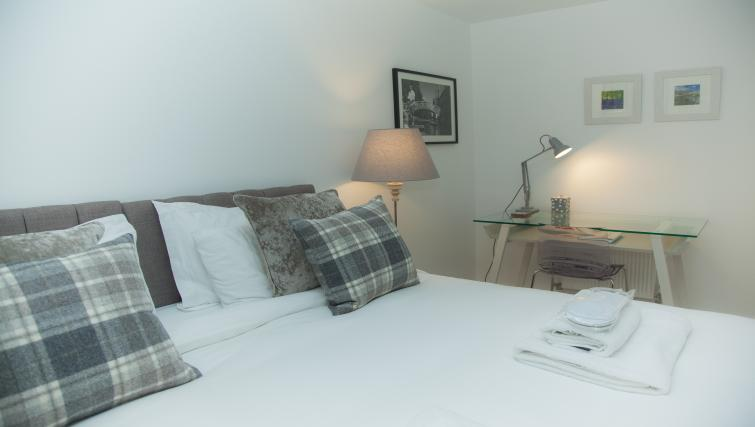 Bedroom decor at the The Marque Grande Apartment - Citybase Apartments