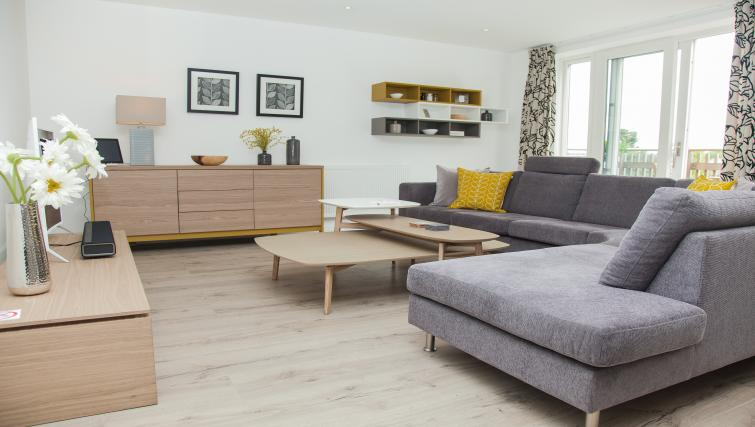 Living room at the The Marque Grande Apartment - Citybase Apartments