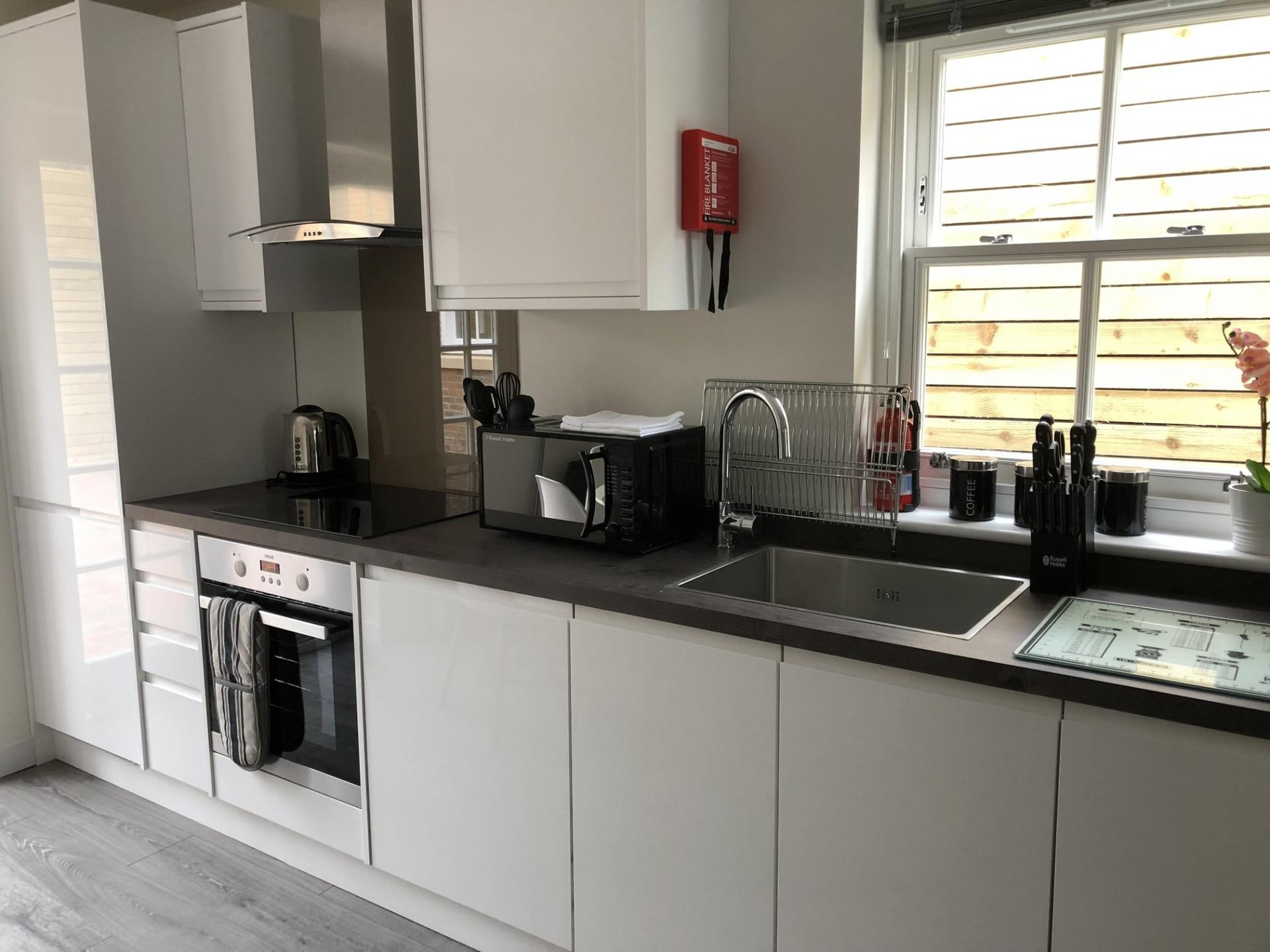 Kitchen at Derbyshire House, St Albans - Citybase Apartments