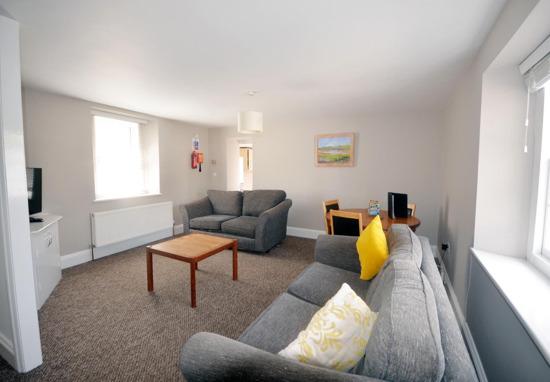 Sofas at Trinity Mews Apartment, Babbacombe, Torquay - Citybase Apartments