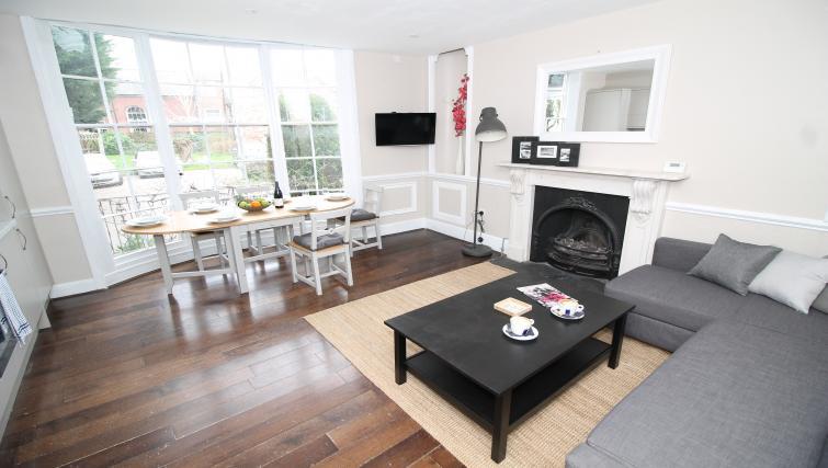 Living area at No 18 Apartments - Citybase Apartments