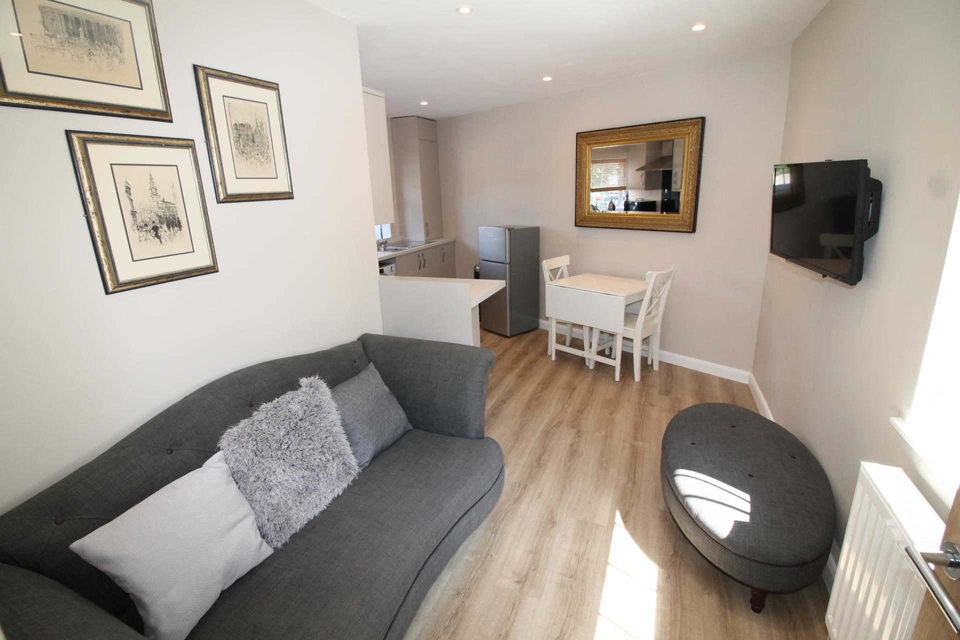 Bright living area at No 18 Apartments - Citybase Apartments