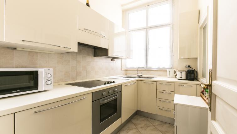 Kitchen at Bonaparte Apartment - Citybase Apartments