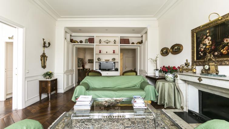 Living area at Bonaparte Apartment - Citybase Apartments