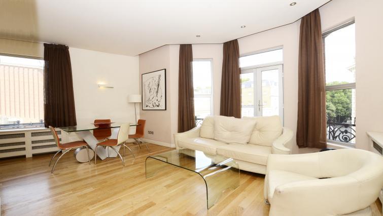 Living area at 1 Harrington Gardens - Citybase Apartments