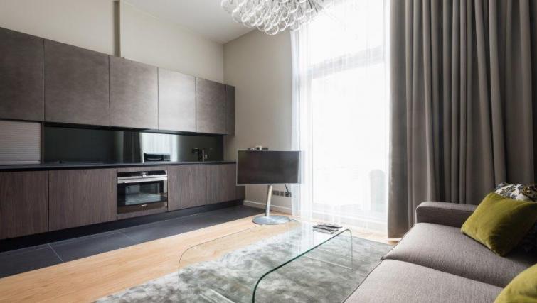 Modern lounge area at 1 Harrington Gardens - Citybase Apartments
