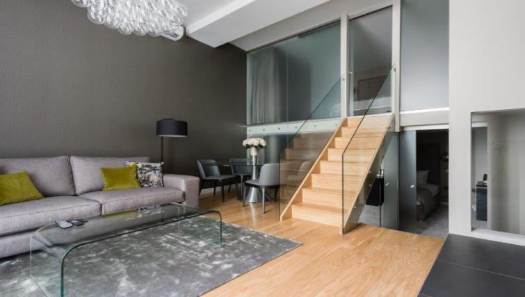 Living space at 1 Harrington Gardens - Citybase Apartments