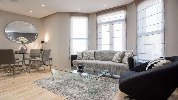 Modern living space at 1 Harrington Gardens - Citybase Apartments
