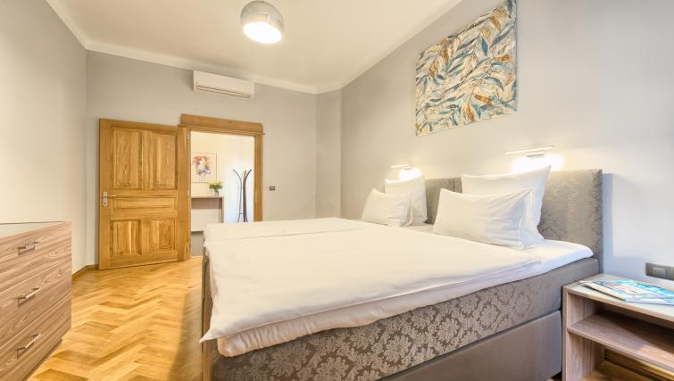 Bright bedroom at Dusni 13 Apartment - Citybase Apartments