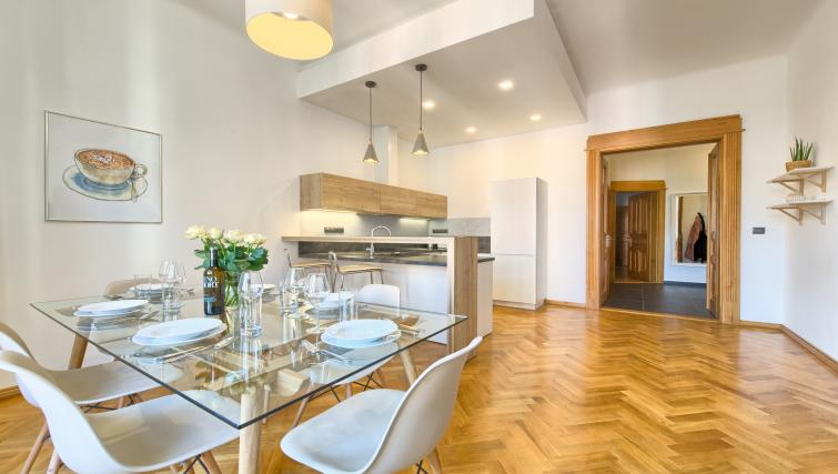Dining table at Dusni 13 Apartment - Citybase Apartments