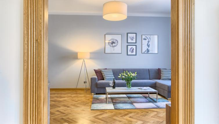 Modern living area at Dusni 13 Apartment - Citybase Apartments