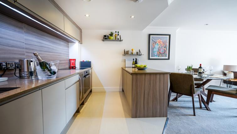 equipped kitchen at Cocoa Suites - Citybase Apartments