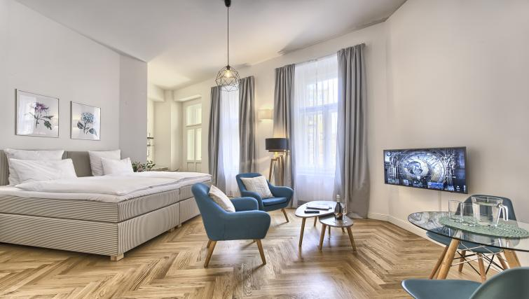 Living area at Jilska Palace Apartments - Citybase Apartments