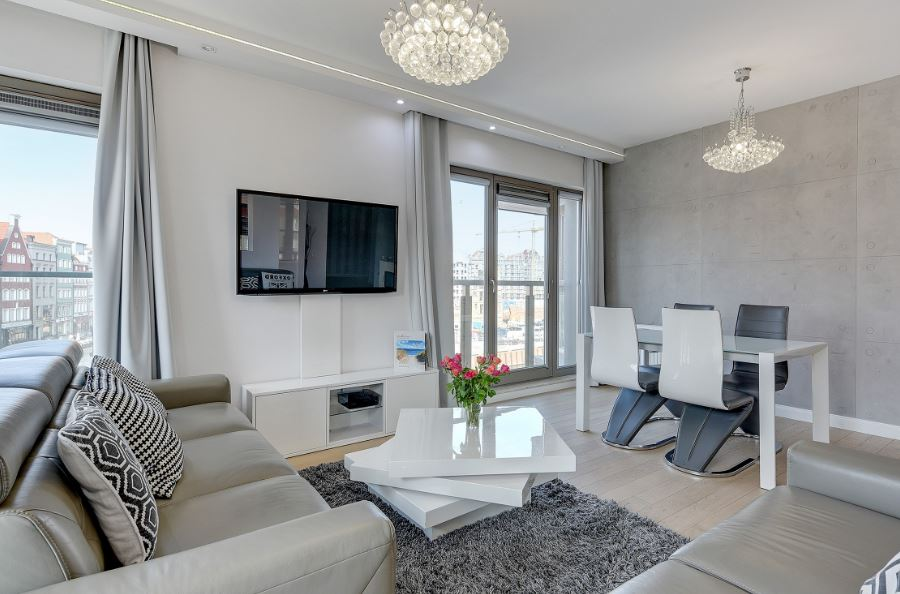 TV at Waterlane Residence Apartments, Srodmiescie, Gdansk - Citybase Apartments