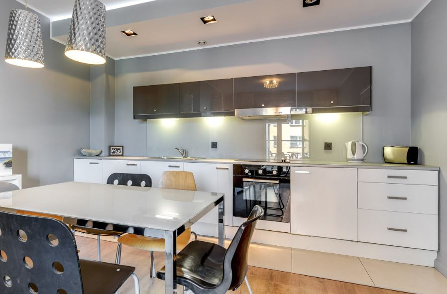 Dining space at Waterlane Residence Apartments, Srodmiescie, Gdansk - Citybase Apartments