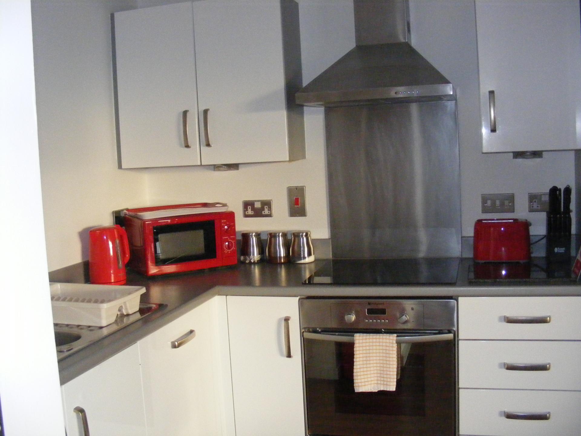 Kitchen at Baystays Apartments, Centre, Swansea - Citybase Apartments
