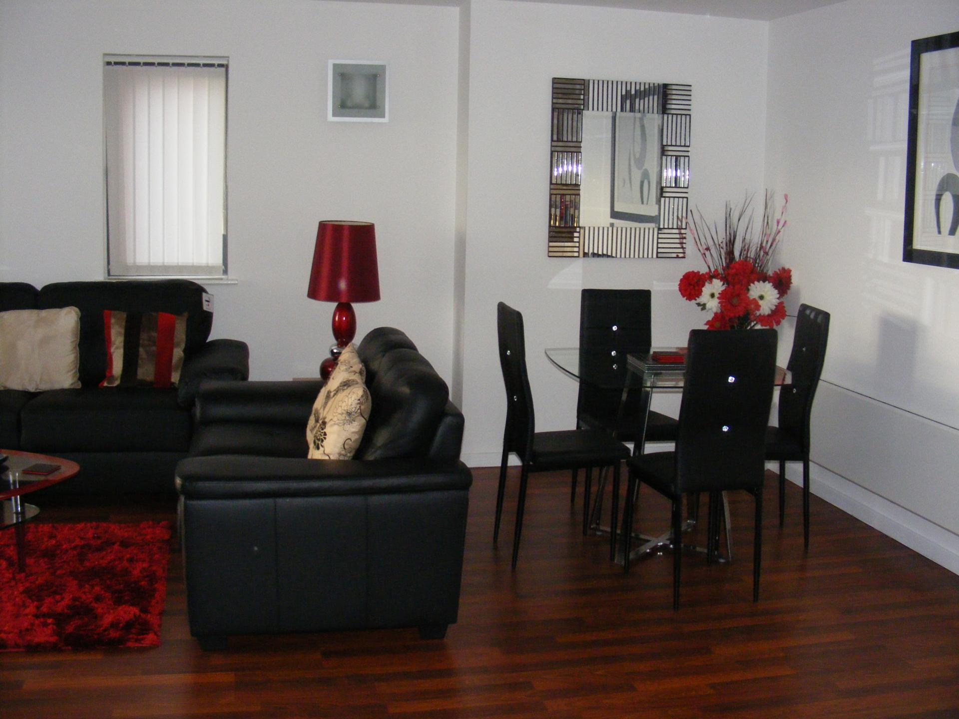 Dining area at Baystays Apartments, Centre, Swansea - Citybase Apartments
