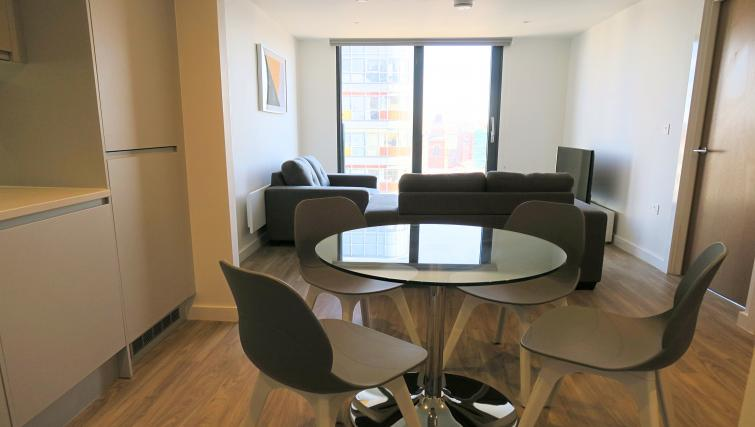 Dining area at the Gateway Apartments Northern Quarter - Citybase Apartments