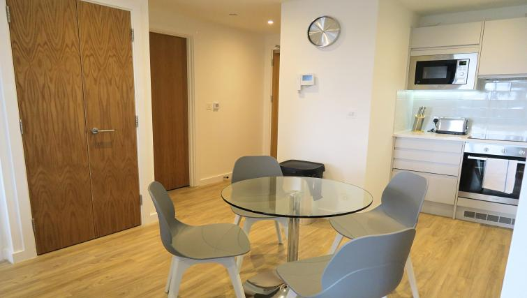 Dining room at the Gateway Apartments Northern Quarter - Citybase Apartments