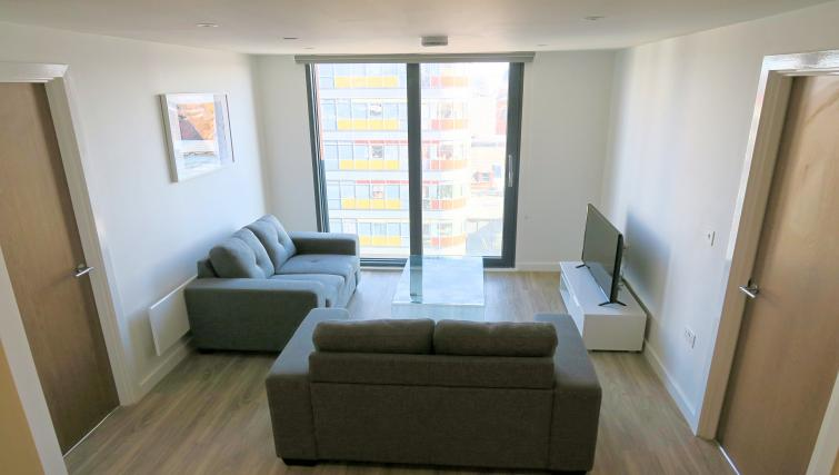 Lounge at the Gateway Apartments Northern Quarter - Citybase Apartments