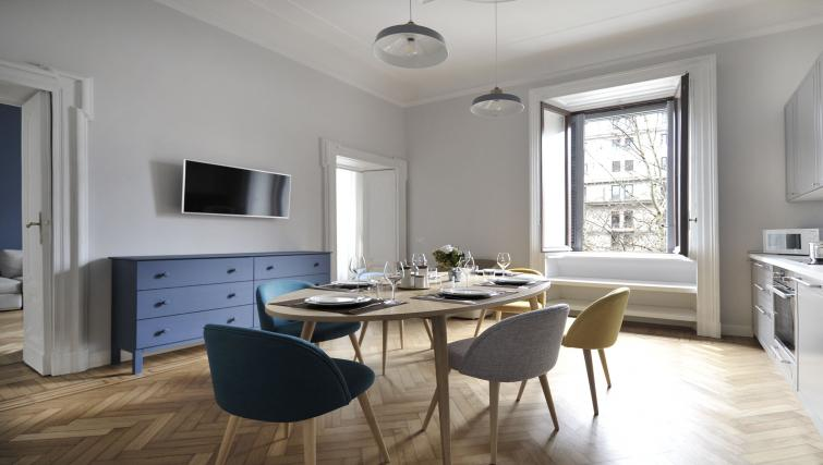 Dining room at the Sempione Liberty Apartment - Citybase Apartments