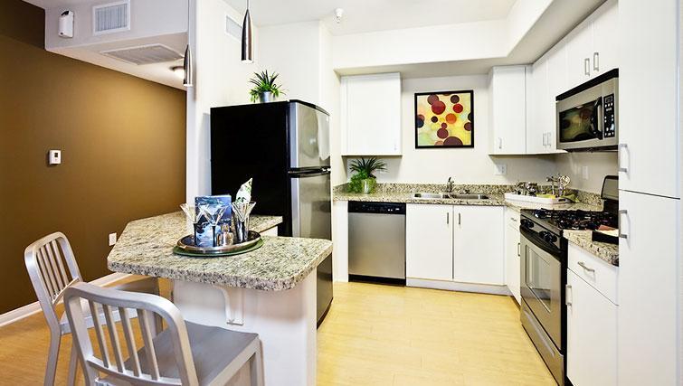 Kitchen at 5600 Wilshire Apartments - Citybase Apartments