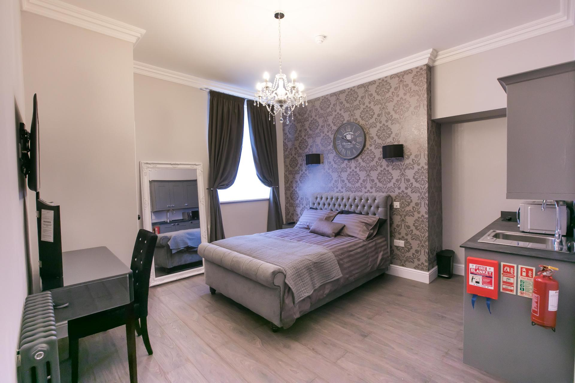 Bedroom at Number 10 The Abbey Apartments - Citybase Apartments