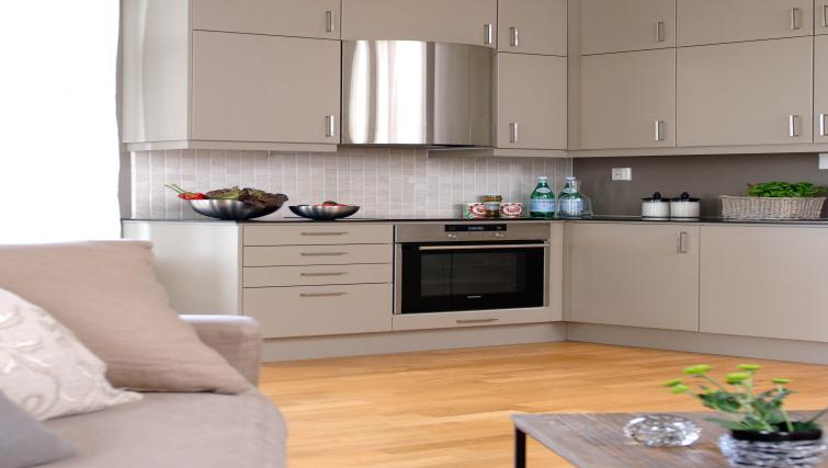 Modern kitchen at Riddervolds Gate 10 Apartments - Citybase Apartments