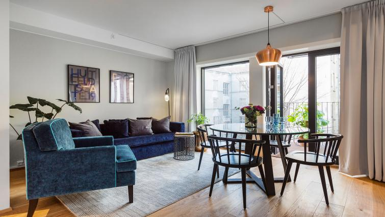 Living area at Huitfeldtsgate 19 Apartments - Citybase Apartments