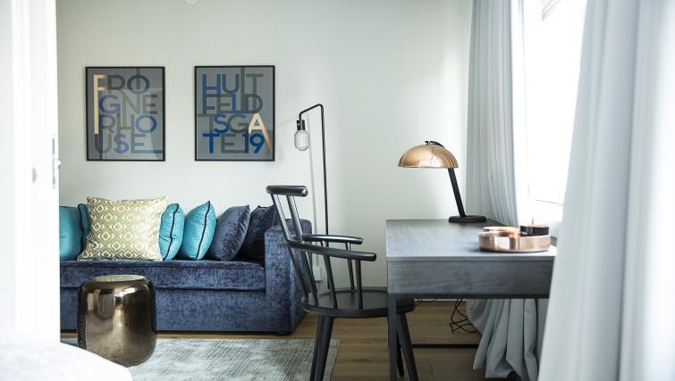 Desk at Huitfeldtsgate 19 Apartments - Citybase Apartments