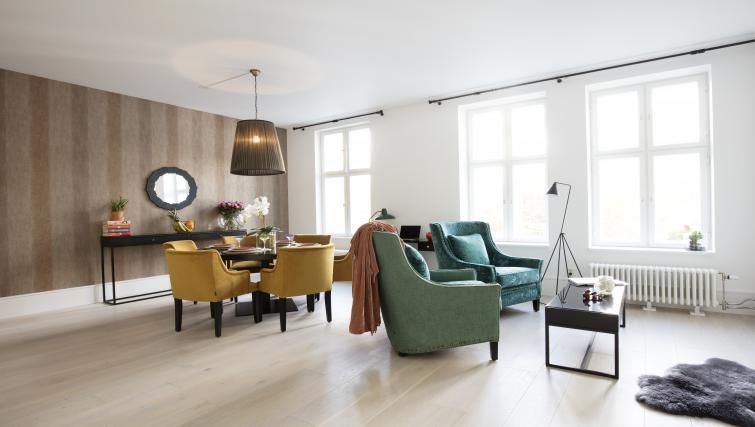Living area at Colbjørnsens Gate 4 Apartments - Citybase Apartments