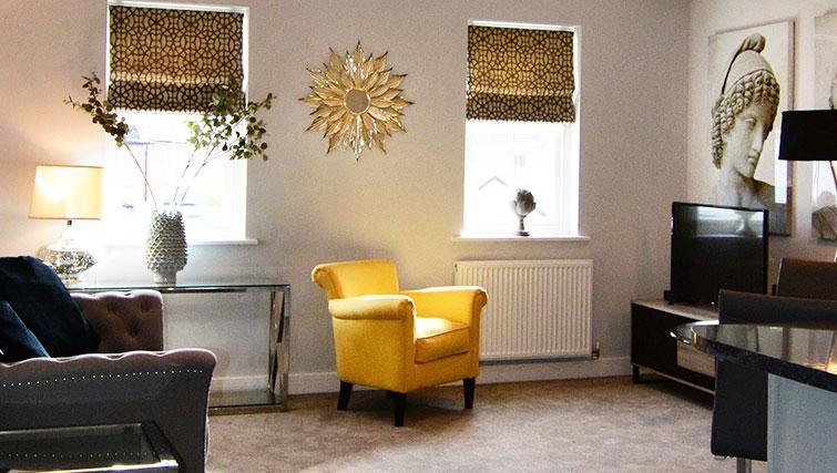 modern living area at Dunara Suites - Citybase Apartments