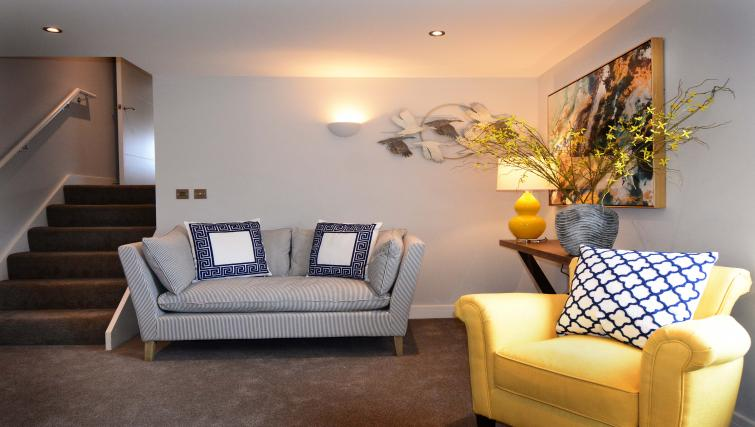Living area at Dunara Suites - Citybase Apartments