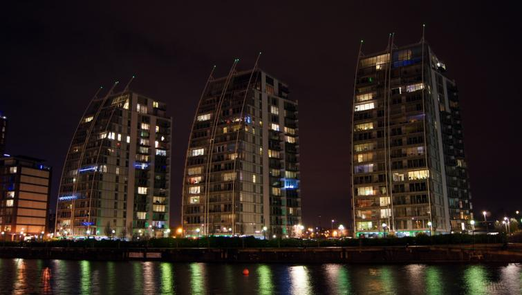 Night vew at IncityNow Media City Penthouse - Citybase Apartments