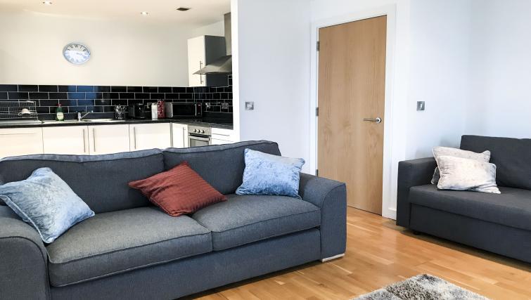 Sofa at IncityNow Media City Penthouse - Citybase Apartments