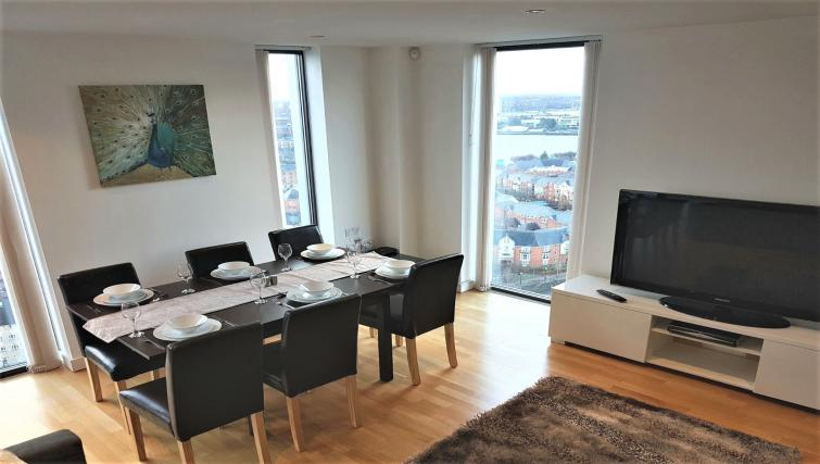 Living area at IncityNow Media City Penthouse - Citybase Apartments