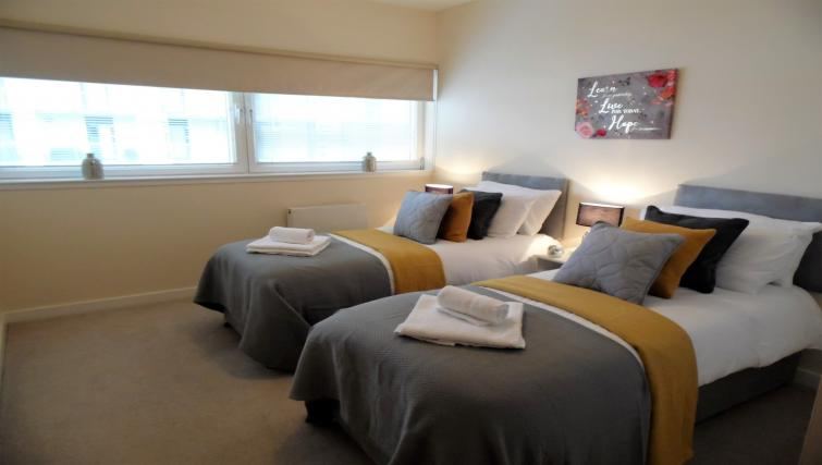 Bedroom at the Harbour View Apartment - Citybase Apartments