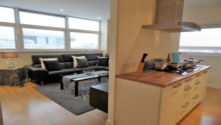 Kitchen layout at the Harbour View Apartment - Citybase Apartments