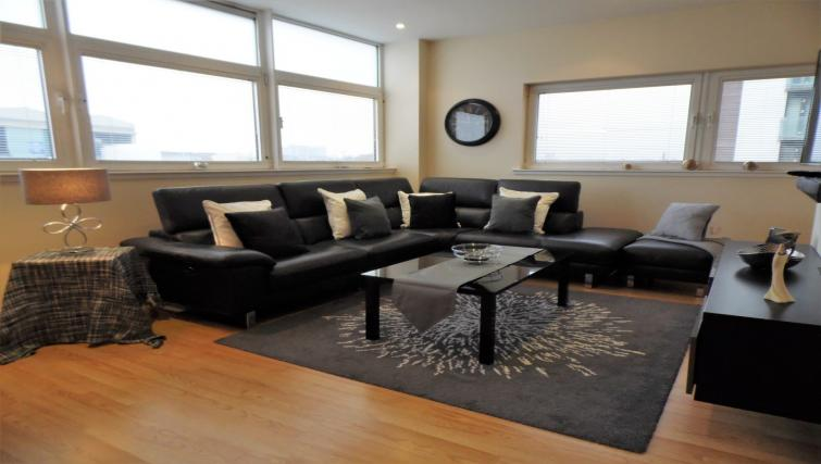 Living room at the Harbour View Apartment - Citybase Apartments