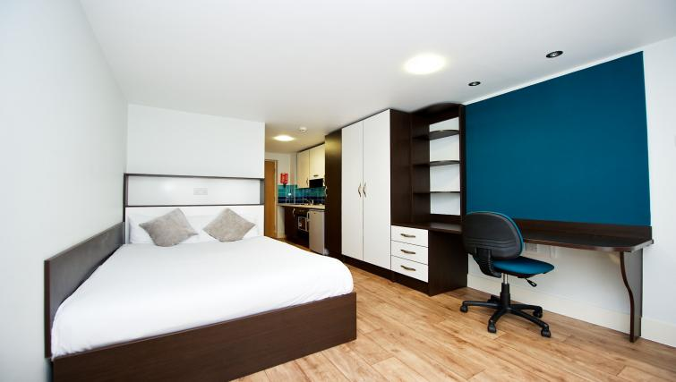 Bedroom at the CityLiveIn Summer Apartments - Citybase Apartments