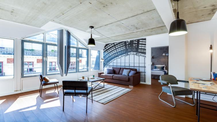 Living room at the Rue de Milan Apartments - Citybase Apartments