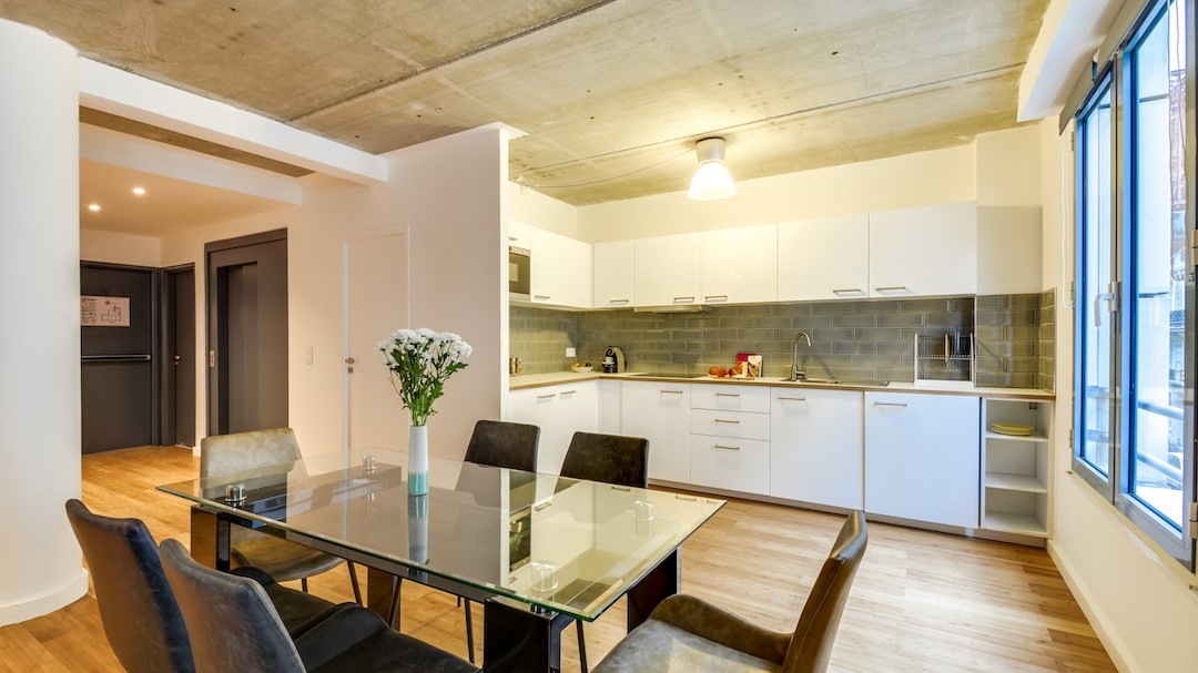 Dining table at  Rue de Milan Apartments - Citybase Apartments