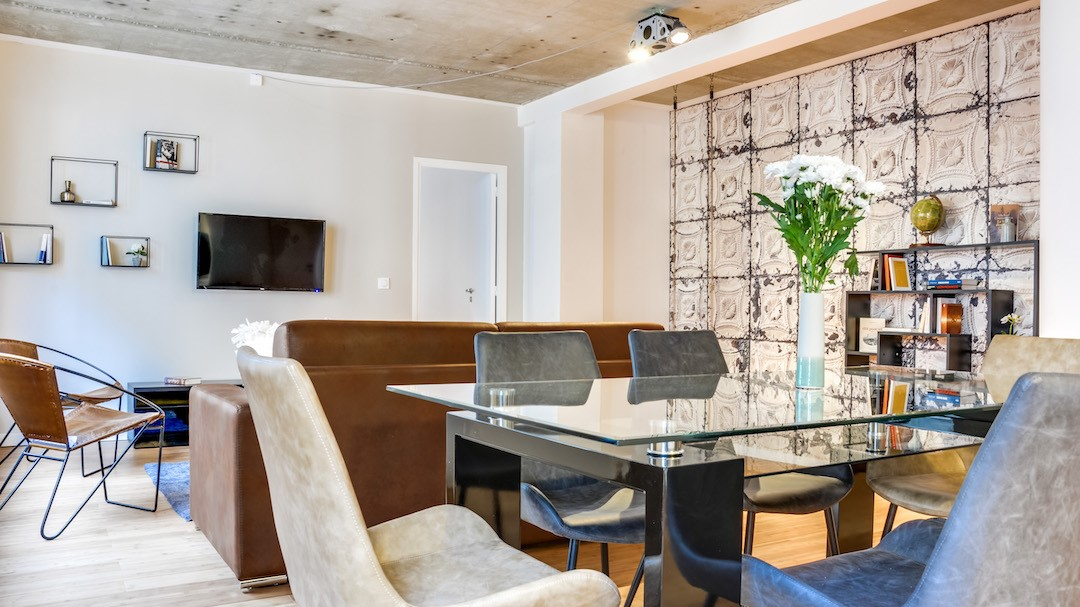 Stylish living area at  Rue de Milan Apartments - Citybase Apartments