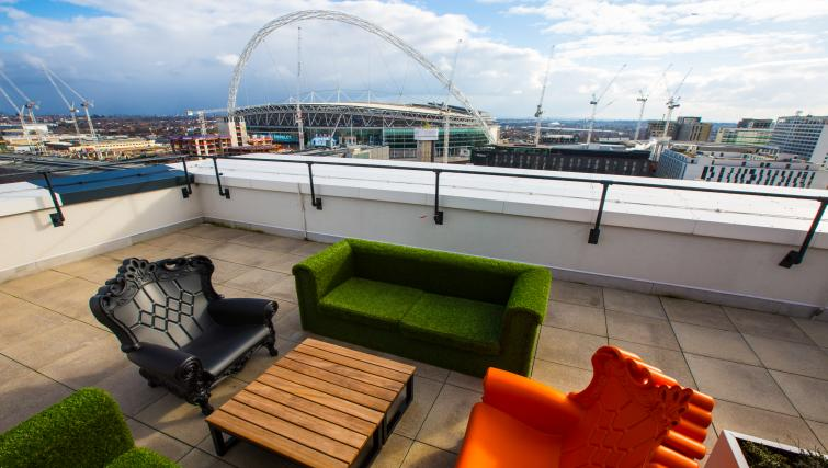 Spacious balcony at GIGLI Apartments Wembley - Citybase Apartments