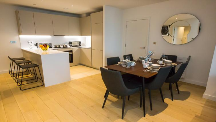 Dining area at GIGLI Apartments Wembley - Citybase Apartments