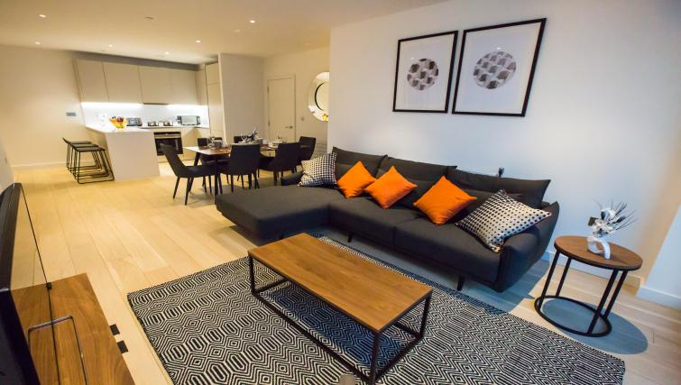 Sofa at GIGLI Apartments Wembley - Citybase Apartments
