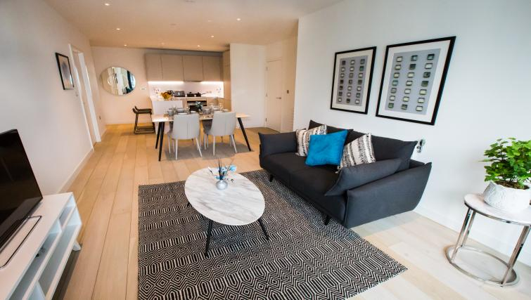 Living area at GIGLI Apartments Wembley - Citybase Apartments