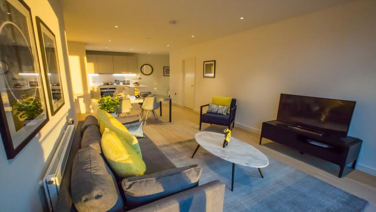 Modern living area at GIGLI Apartments Wembley - Citybase Apartments