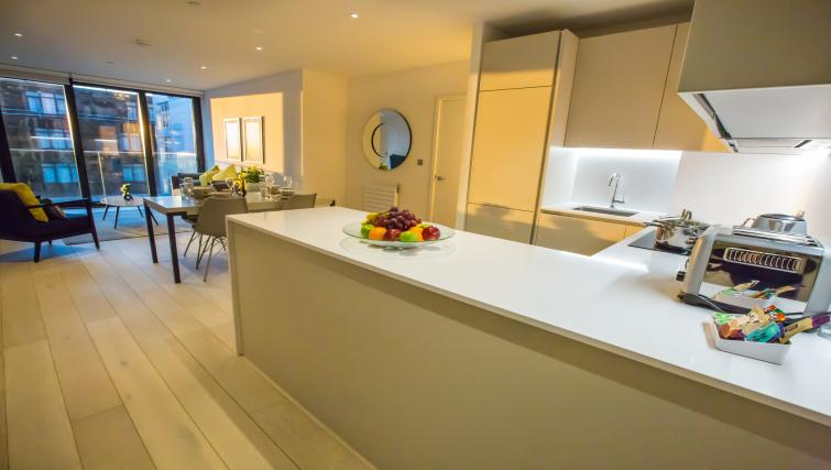 Equipped kitchen at GIGLI Apartments Wembley - Citybase Apartments